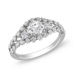 Miadora 18k White Gold 1 1/2ct TDW Diamond  Ring (G-H, SI1-SI2)