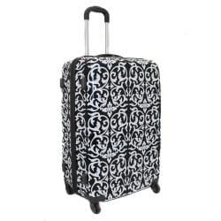 World Traveler Designer Prints Damask 3-piece Lightweight Hardside Spinner Luggage Set