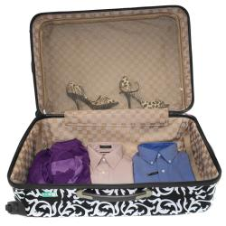 World Traveler Designer Prints Damask 3-piece Lightweight Hardside Spinner Luggage Set
