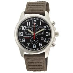 Citizen Men's Eco-Drive Chronograph Black Dial Canvas Watch