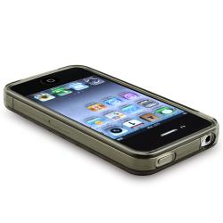 BasAcc Clear Smoke Diamond TPU Rubber Case for Apple iPhone 4 AT&T