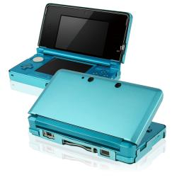Light Blue Aluminum Case for Nintendo 3DS