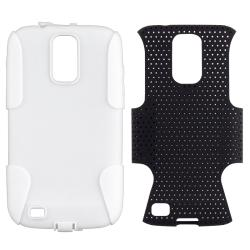 White/ Black Mesh Hybrid Case for Samsung Galaxy S II T-Mobile T989