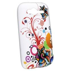 White/ Colorful Flowers/ Ribbons TPU Rubber Case for HTC Wildfire S