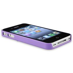 Purple 3D Rose Sculpture Snap-on Case for Apple iPhone 4/ 4S