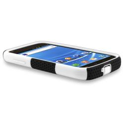 White/ Black Mesh Hybrid Case for Samsung Galaxy S II T-Mobile T989