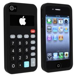 Black 3D Calculator Pattern Silicone Skin Case for Apple iPhone 4/ 4S