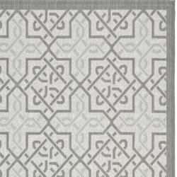 Light Grey/ Anthracite Indoor Outdoor Rug (8' x 11'2)