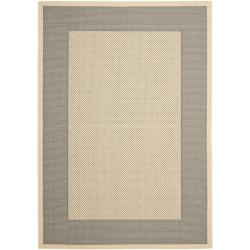 Safavieh Poolside Grey/ Cream Indoor Outdoor Rug (2' x 3'7)
