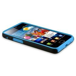 Blue Skin/ Black Hard Hybrid Case for Samsung Galaxy S II i9100