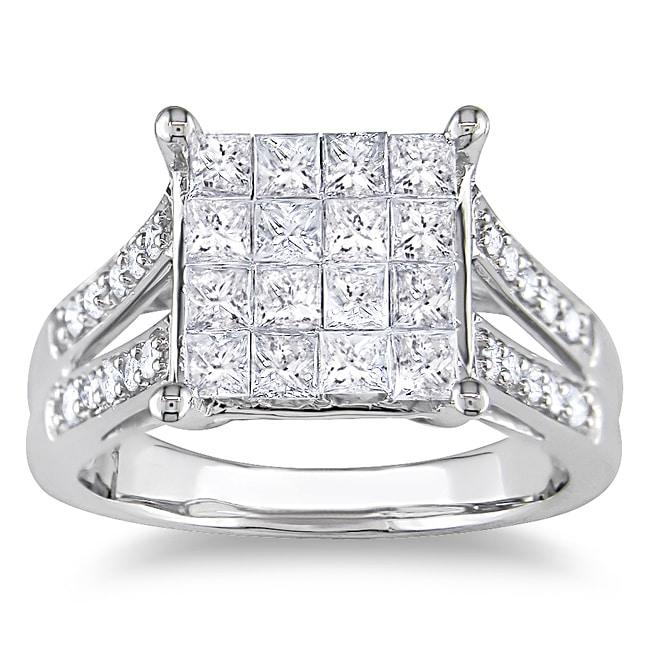 14k White Gold 1ct TDW Princess-cut Diamond Ring (G-H, I1-I2)