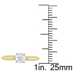 18k Two-Tone Gold 1/2ct TDW Diamond Solitaire Engagement Ring (H-I, SI1-SI2)