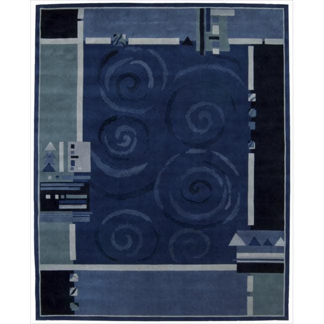 Nourison Hand-tufted Dimensions Blue Rug (8' x 11')