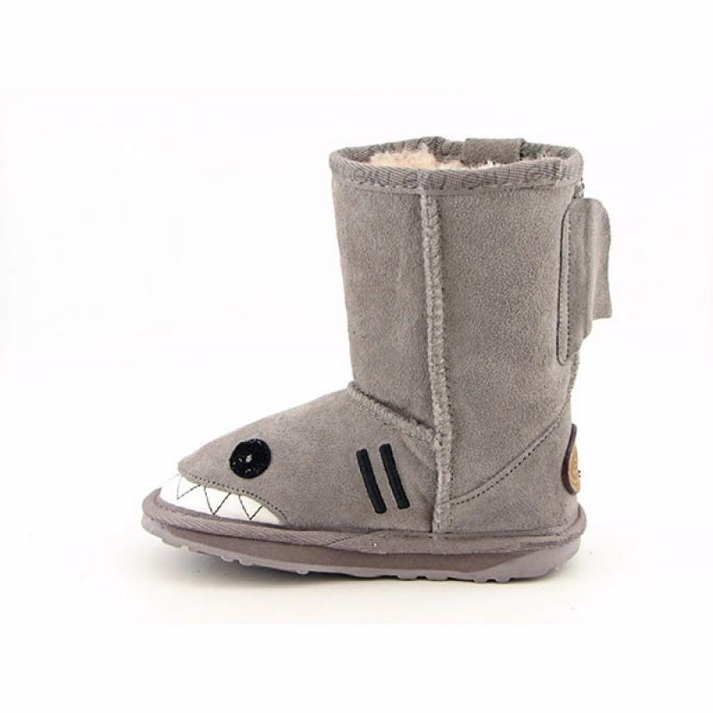 Emu Australia Infants Baby Toddler's Little Creatures Shark Gray Boots (Size 11)