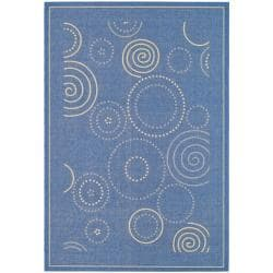 Poolside Blue/ Natural Indoor Outdoor Rug (9' x 12')