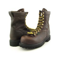 "GEORGIA Men's G8341 8"" Low-Heel Logger Brown Boots (Size 9)"