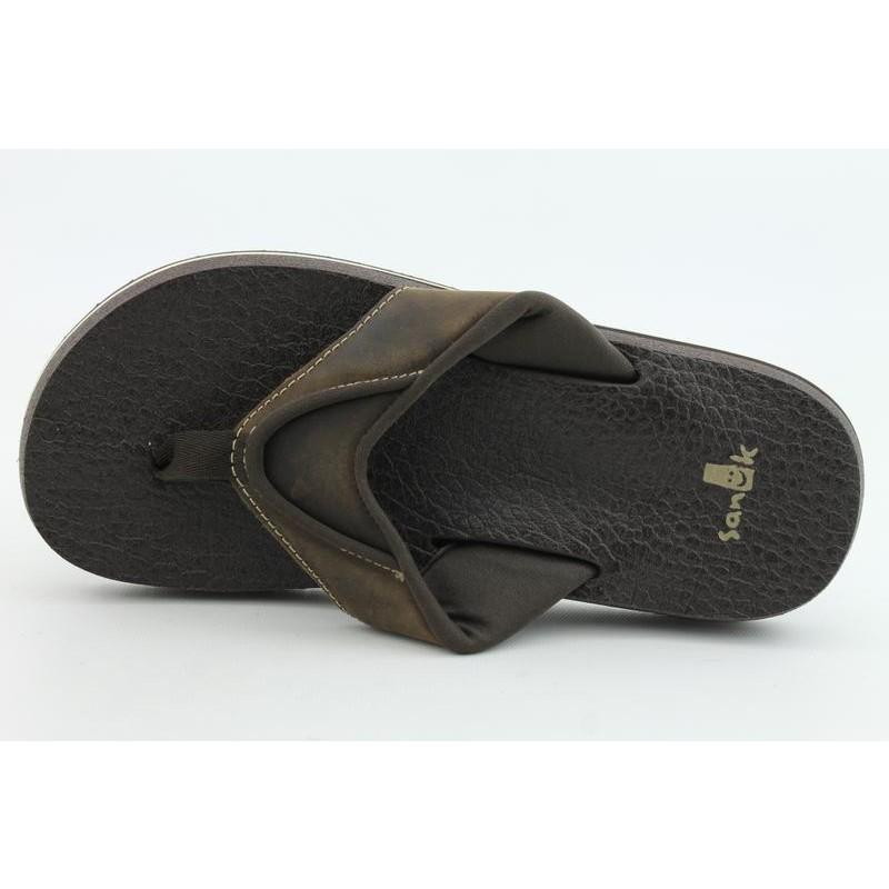 Sanuk Men's Beer Cozy Primo Brown Sandals