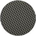 Poolside Black/ Beige Indoor Outdoor Rug (5'3 Round)