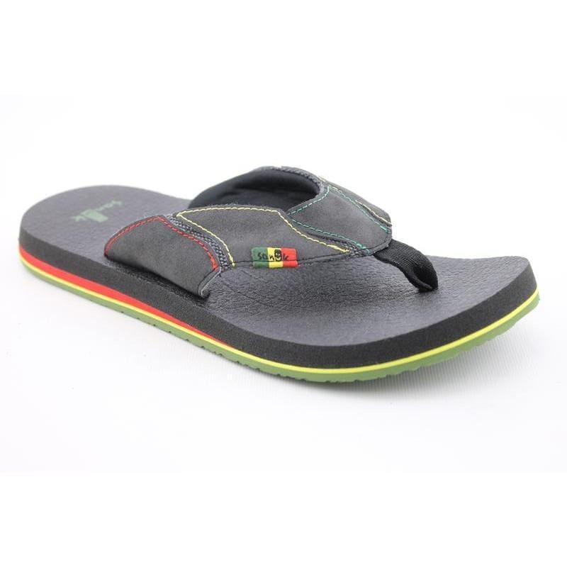 Sanuk Men's Fault Line Irie Black Sandals