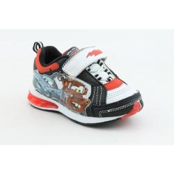 Disney Pixar Youth's Cars Lighted Sneaker White Casual Shoes