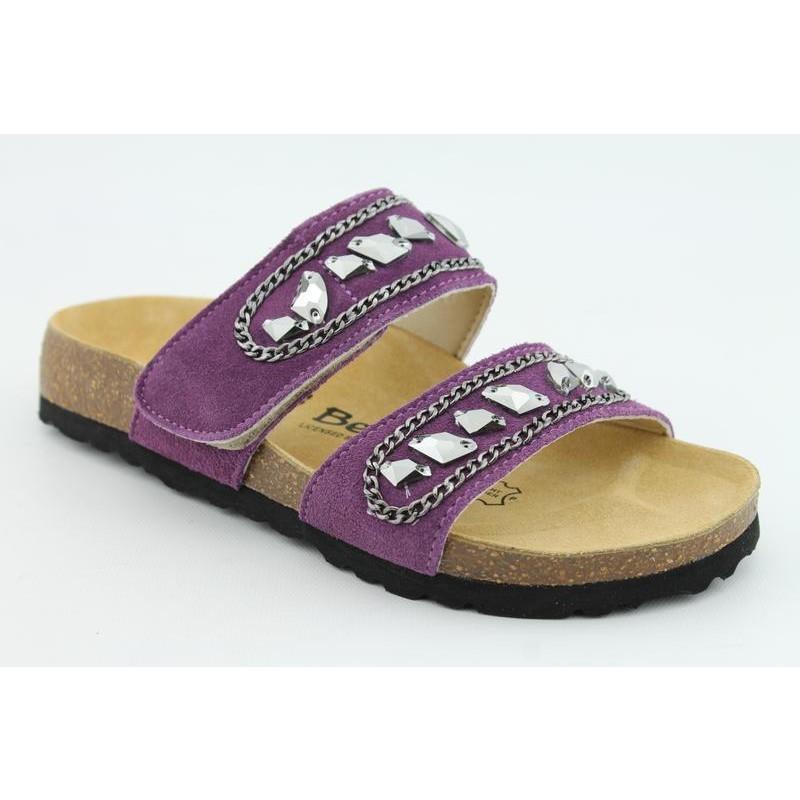 Beautiful Gucci Womens Shoes OpenToe Sandals Purple Gomma GGW2604