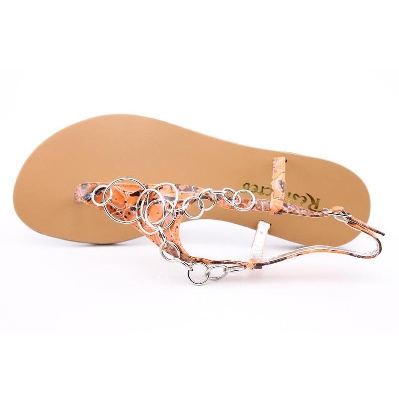 Restricted Women's Keychain Oranges Sandals (Size 7.5)