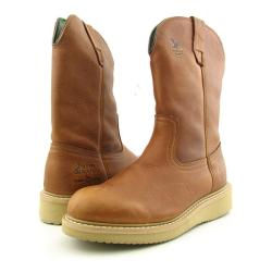 GEORGIA Men's Wellington Wedge Brown Boots (Size 7)