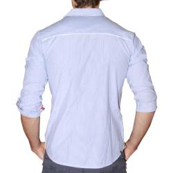 191 Unlimited Men's Blue Cotton-blend Shirt