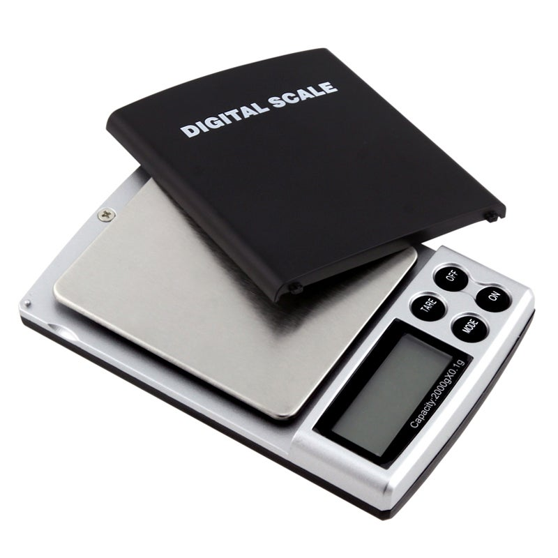 4-pound Black Digital Pocket Scale
