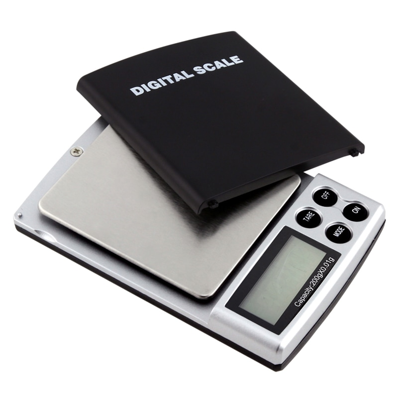 0.4-pound Black Digital Pocket Scale