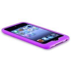 Purple Silicone Skin Case for Apple iPod Touch 4th Generation