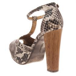Riverberry Women's 'Curia' Python-print Platform Sandal