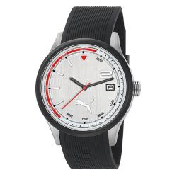 Puma Men's 3HD Silver and White Watch