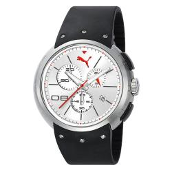 Puma Men's Hero Silver and White Watch