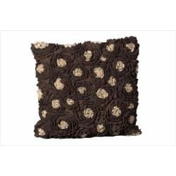 Nourison Nourison Chocolate Felt Decorative Pillow