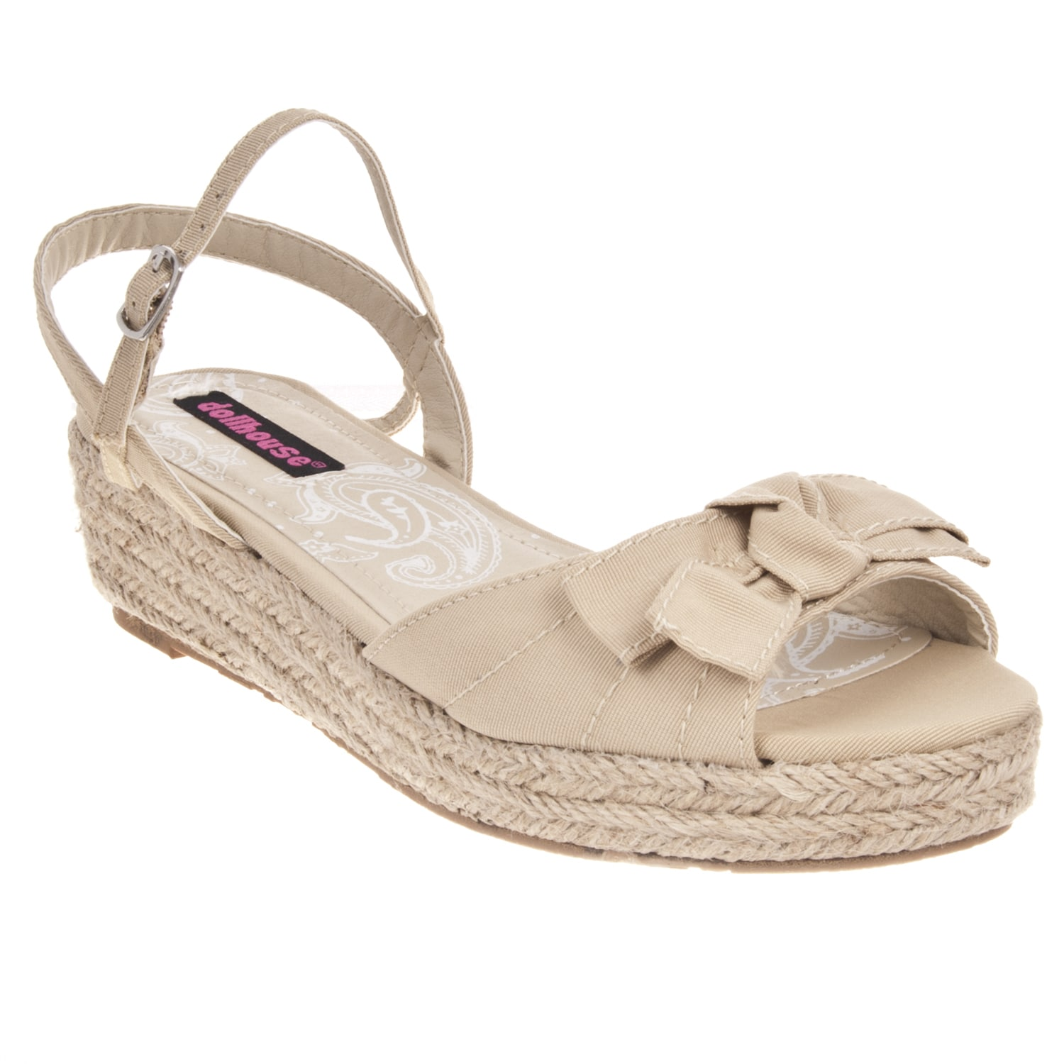 Riverberry Women's 'Quiche' Natural Bow-detail Wedge Sandal