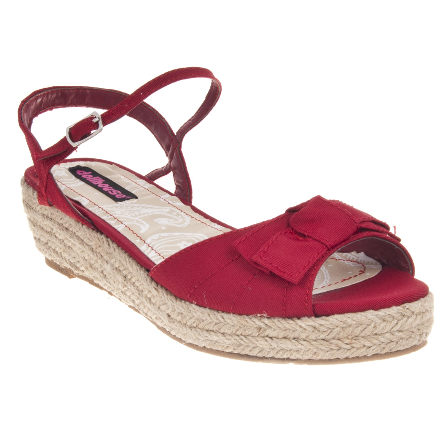 Riverberry Women's 'Quiche' Red Bow-detail Wedge Sandal