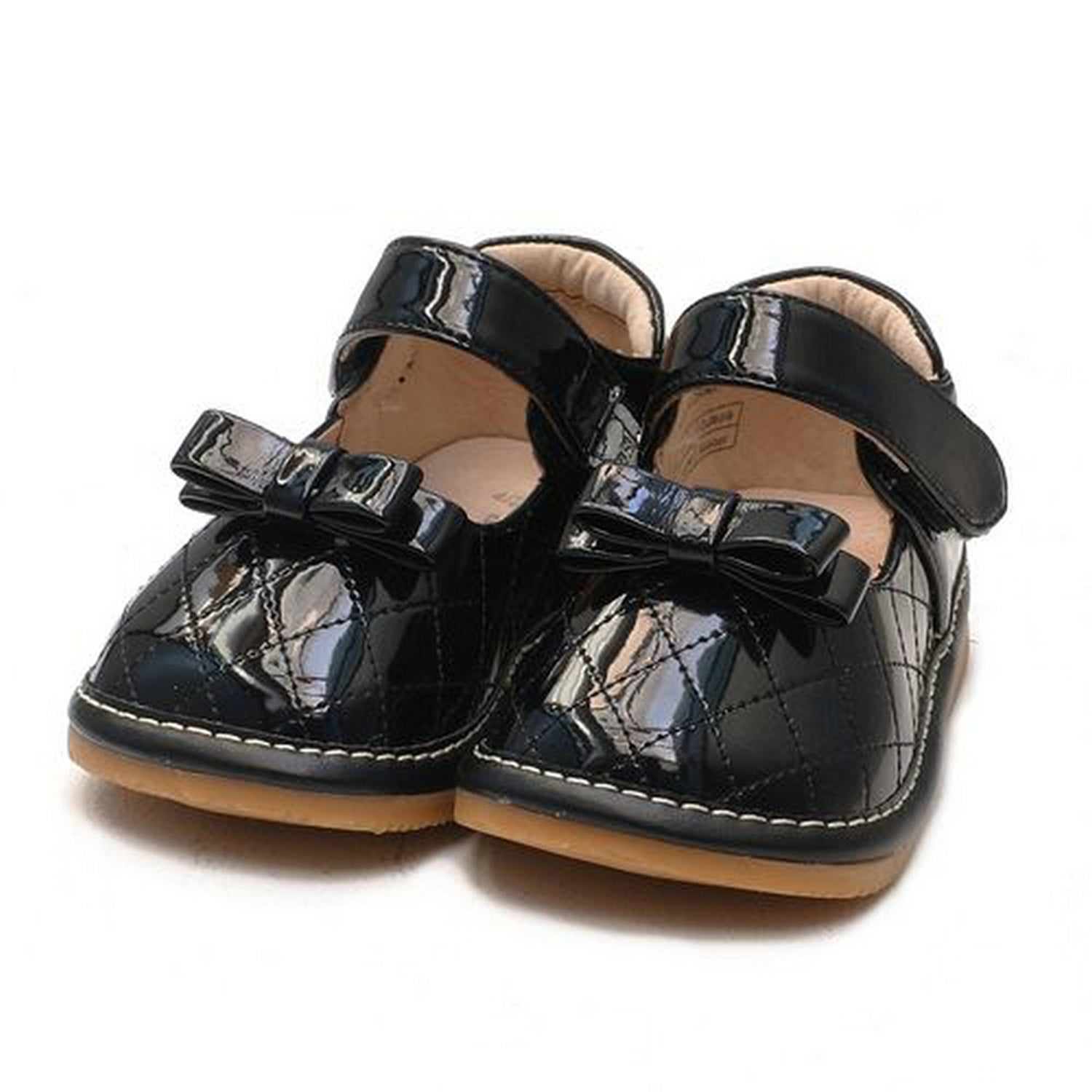 blue toddler sq series black patent leather