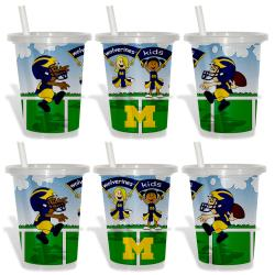 Michigan Wolverines Sip and Go Cups (Pack of 6)