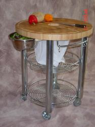 Chris & Chris Stadium 30-inch Round Kitchen Work Station