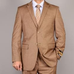 Bertolini Men&#39;s Light Rust Teakweave Wool/Silk Suit