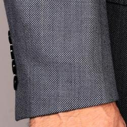 Men's Grey 2-Button Wool Sport Coat