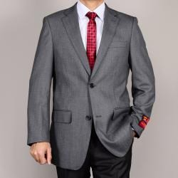 Mantoni Men's Grey 2-Button Wool Sport Coat