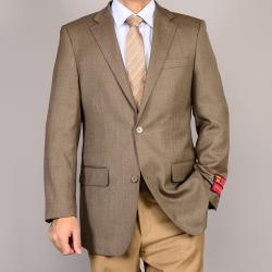 Mantoni Men's Olive 2-Button Wool Sport Coat
