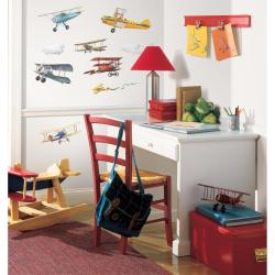 RoomMates Vintage Planes Peel and Stick Wall Decals