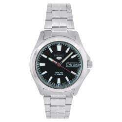 Seiko Men's Seiko 5 Watch with Black Dial