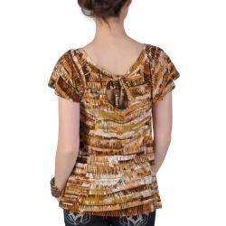 Journee Collection Juniors Plus Stretchy Short-sleeve Top