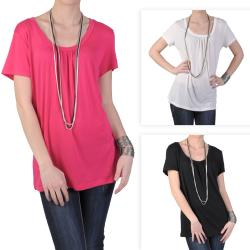 Journee Collection Women's Plus Short-sleeve Knit Shirt