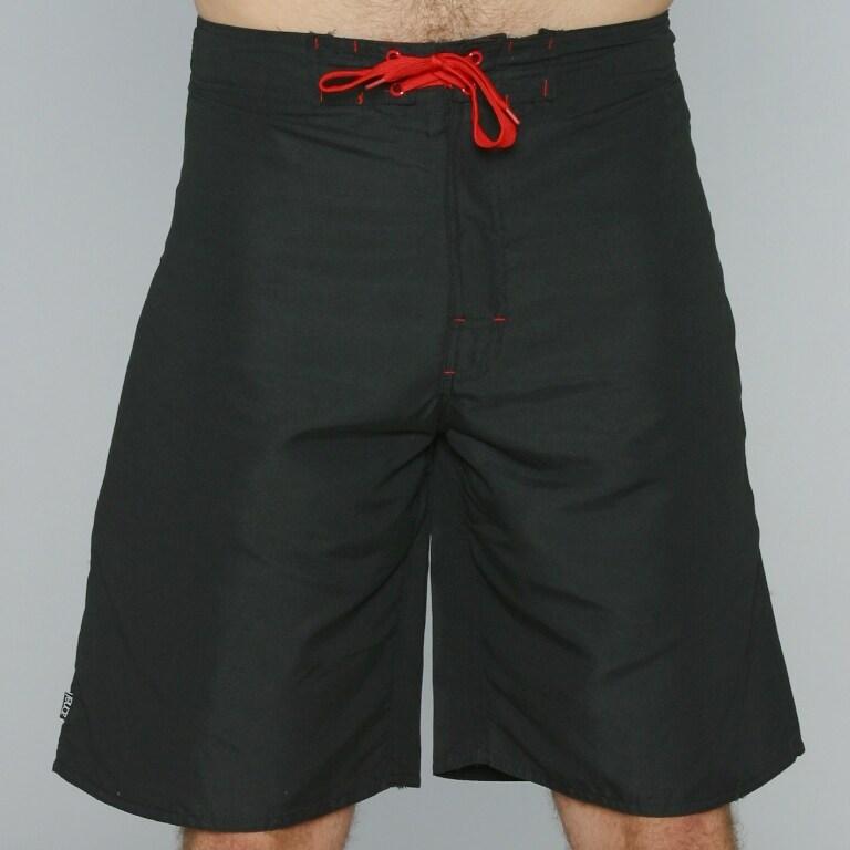 Zonal Men's 'Borg' Black/ Red Color-block Swim Shorts