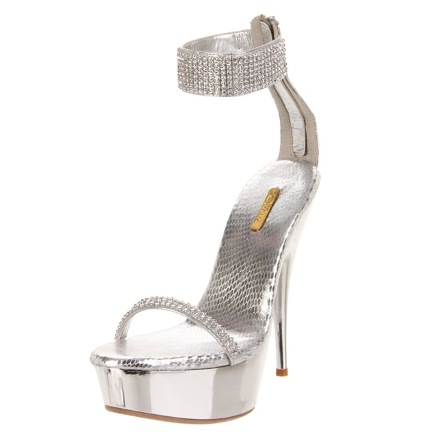 Celeste Women Nicole-02 Rhinestone Crystals High-heel Platform Sandal